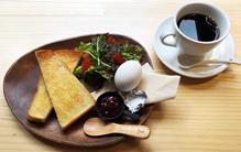 narairoカフェのモーニング