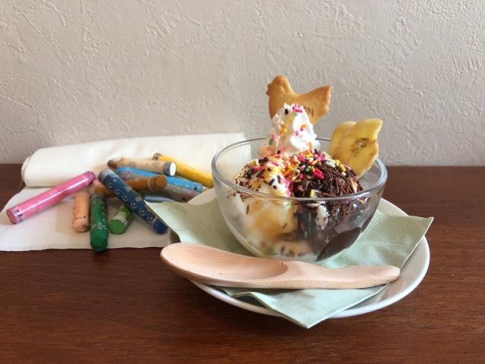 narairoカフェのキッズアイス