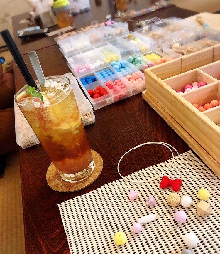 narairoカフェのワークショップ歯固めジュエリー
