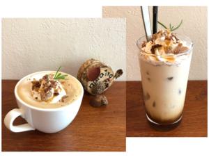 narairoカフェのマロンショコララテ