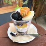 narairoカフェのナガノパープルと秋のほっこりパフェ