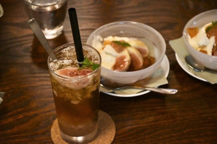 narairoカフェのいちじくメニュー