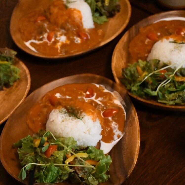 narairoカフェのハッシュドビーフ