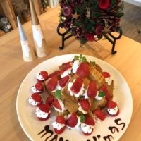narairoカフェのクリスマスケーキ