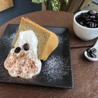 narairoカフェの珈琲シフォンケーキ
