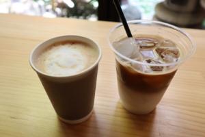 ならいろカフェのカフェラテのテイクアウト