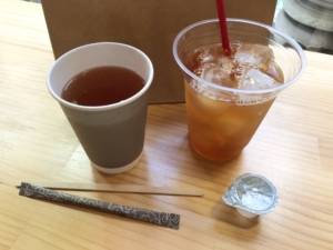 ならいろカフェの月ヶ瀬和紅茶テイクアウト