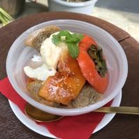 奈良県産柿のグラスパフェ