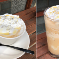 narairoカフェのホワイトチョコラテ