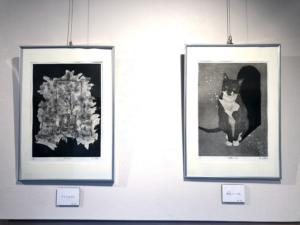 カミムラコタロウ個展『青・争』開催の様子