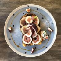 narairoカフェの無花果なブリュレトースト